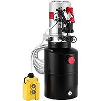 Happybuy Pompe Hydraulique Ronde DC12v Cric-Bouteille A Simple Effet Pompe De Levage (6 pintes simple effet)