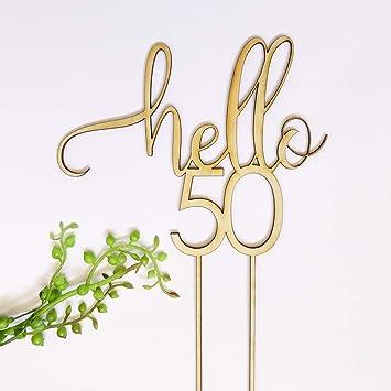 Amazon.com: Funlaugh - Decoración para tartas de 50 años de ...