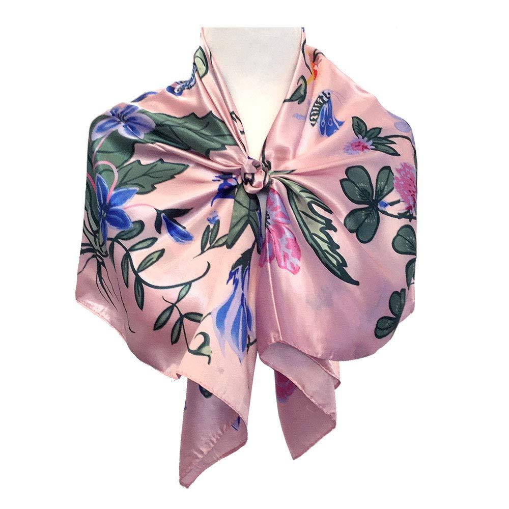 "StarGo Silk Feeling Scarf Women/'s Fashion Large Square Satin Headscarf Hair Wrapping Scarf Neckerchief 35x35/"""