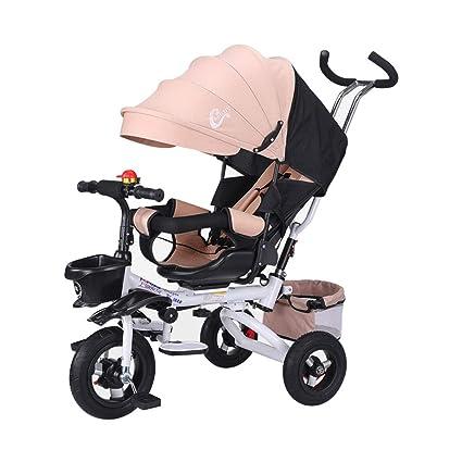 4-en-1 Triciclo Infantil Cochecito Infantil Cochecito para niños El Asiento de Trike