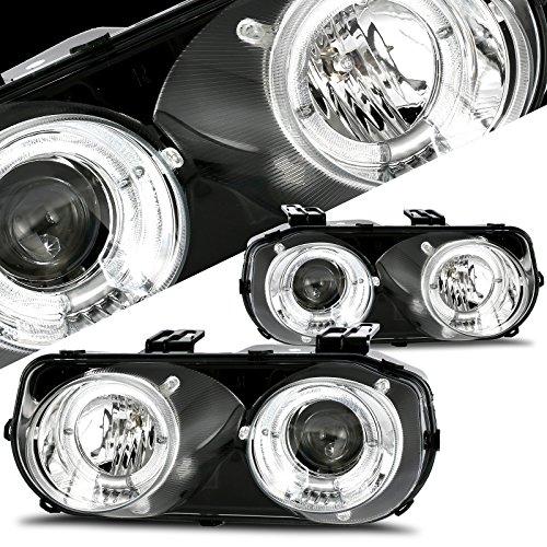 Winjet WJ10-0216-01 Projector Halo Headlights for 1994-1997 Acura Integra -Chrome/Clear - Acura Integra Halo Projector Headlights