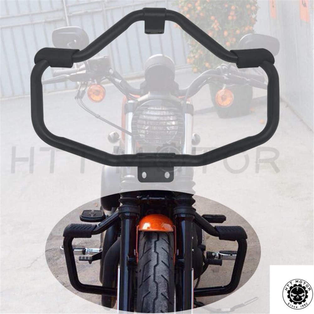 HTTMT Front Crash Bar Protection Compatible with 2005-2016 Harley Davidson Sportster Safety Bar Matte Black [P/N: MT504-002-BK]