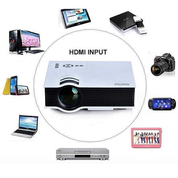 Flylinktech UC40 Proyector Mini LCD portátil de Cine en casa ...