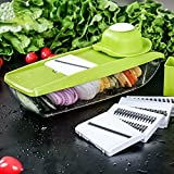 UFire Mandoline Slicer with 5 Interchangeable Stainless Steel...
