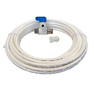 John Guest WSK-W Push-fit Water Supply Kit with Tubing, Push-to-Connect, White