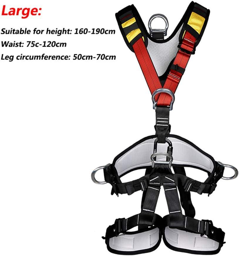 Zyl-Long Kletterseil Arbeitsluft Sicherheitsgurt Au/ßen F/ünf-Punkte-Ganzk/örper-Sicherheitsgurt Geschwindigkeit Tropfen Sicherheitsgurt Climbing Equipment CE-Zertifizierung