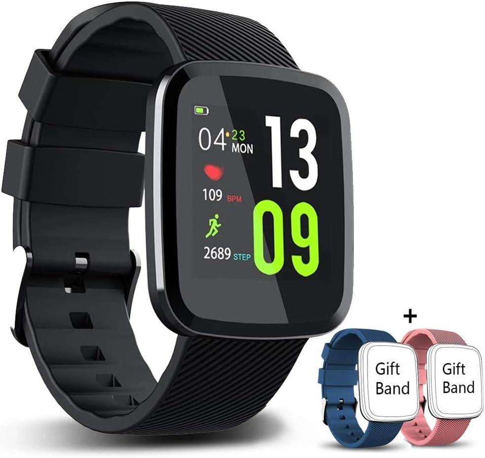 EUMI Smartwatch, Reloj Inteligente con IP67, Pulsera Actividad Inteligente Batería 10-15 días 1.3'' a Color 8 modalidades de Deporte Cronómetro Podómetro Monitor Rítmo Cardíaco Calorías iOS Andriod