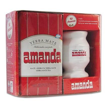 Amazon.com : Mate Set Amanda Keramik - Yerba+Mate+Bombilla ...