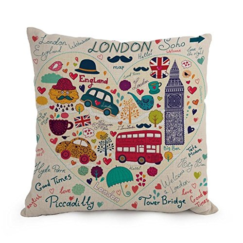 The London Pillow Shams Of ,12 X 20 Inches / 30 By 50 Cm Decoration,gift For Gril Friend,couch,divan,car,saloon,dining Room (twin (How To Make A Saloon Girl Costume)