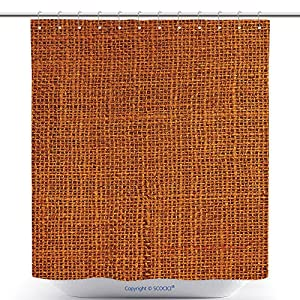 Durable Shower Curtains Close Up Of A Blank Background Rust Colored Canvas Macro Detail Full Frame Vertical Canvas 275287928 Polyester Bathroom Shower Curtain Set With Hooks