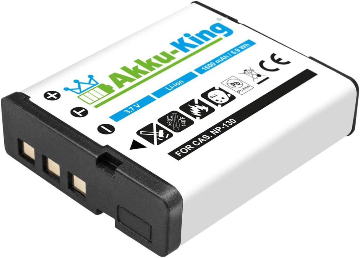 Akku King Akku Kompatibel Mit Casio Np 130 Li Ion Kamera