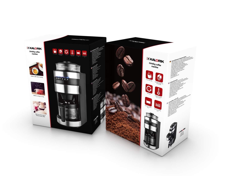 Team Kalorik Cafetera con molinillo de café, Capacidad 0.75L ...