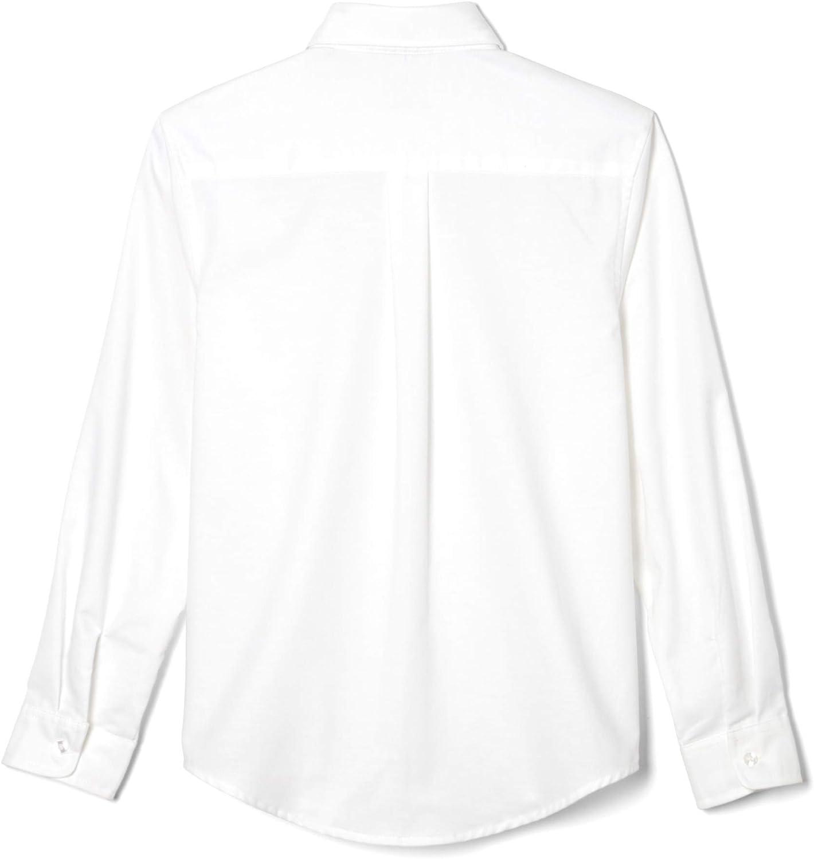 Manga larga Oxford camisa pan tostado francés Big Boys, blanca, 10: Amazon.es: Ropa y accesorios