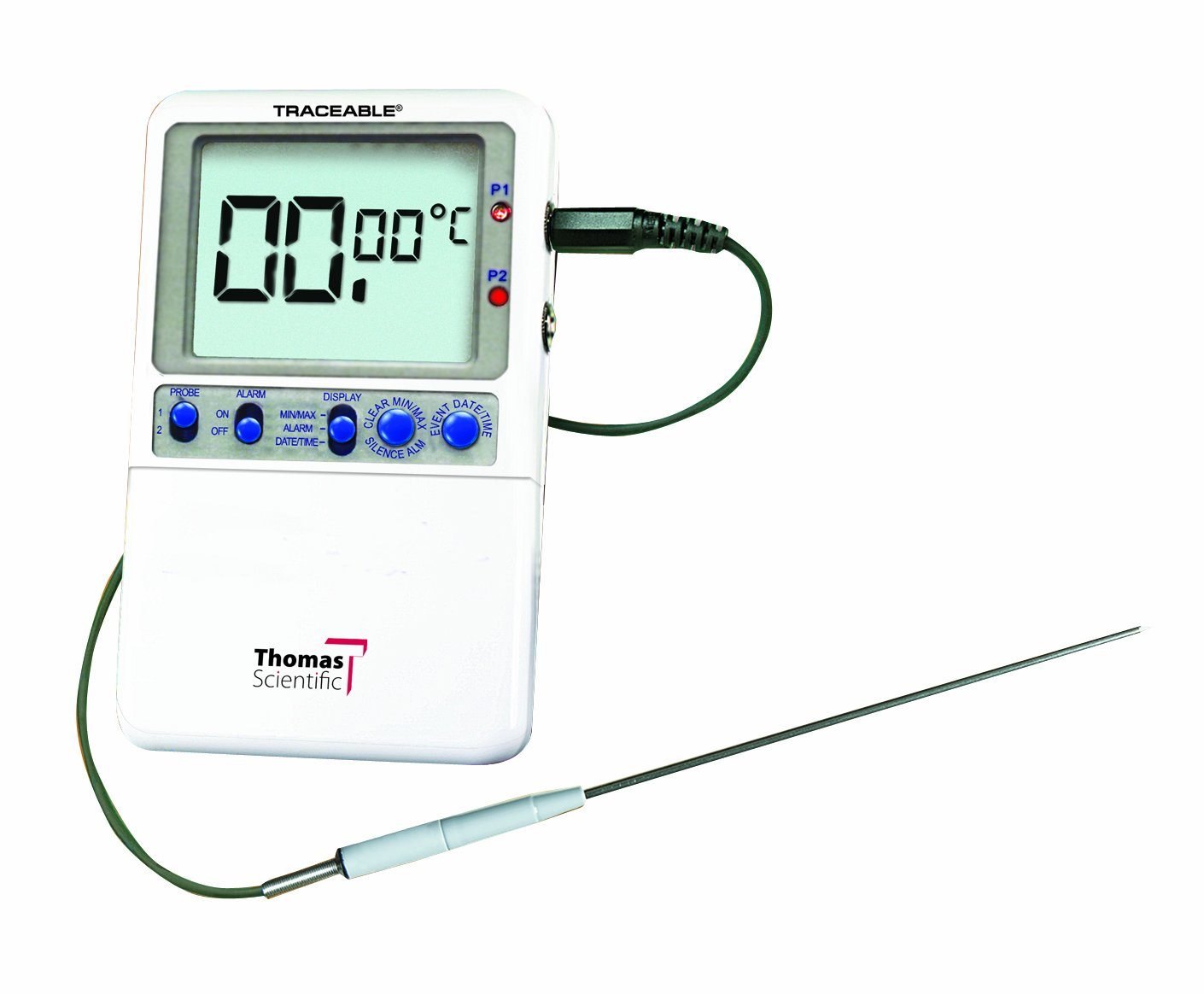 Thomas Traceable Extreme-Accuracy Thermometer, 6.25'' Stem, 35 to 39 degree C