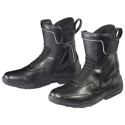 a098f9df4e7 Amazon.com  Tour Master Flex WP Dual Zip Men s Leather Street Motorcycle  Boots - Black Size 11  Automotive