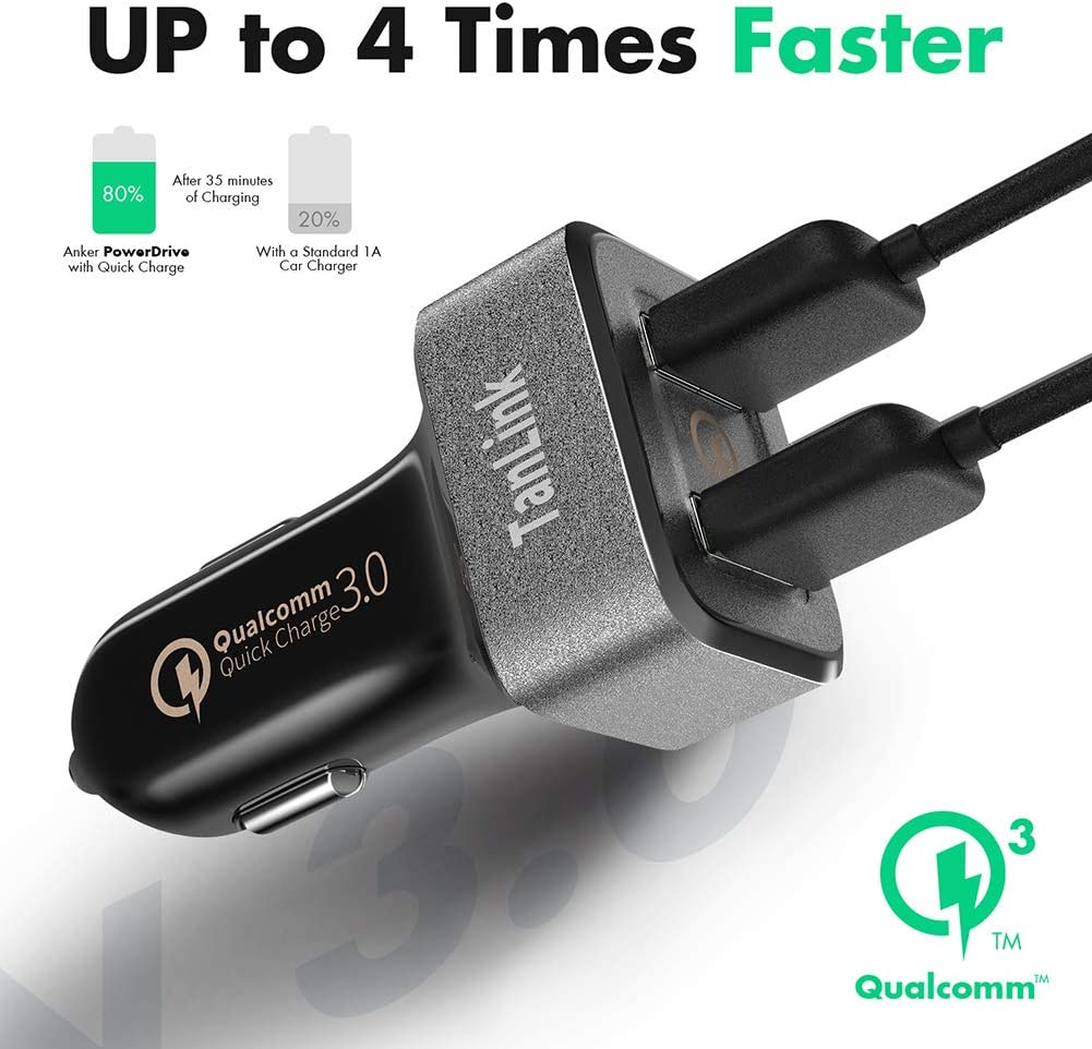 Motorola and More HTC Nexus LG UL Listed iPad 36W Dual USB Quick Charge 3.0 Car Charger for iPhone QC 3.0 Car Charger