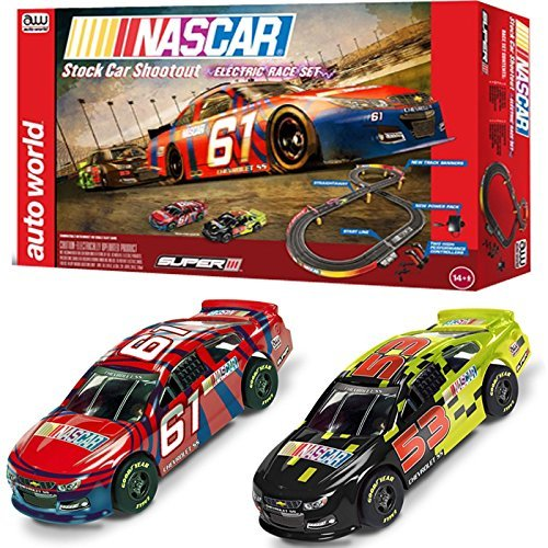 Nascar Stock (NASCAR 10' Stock Car Shoot-Out Slot Car Set by Round 2)