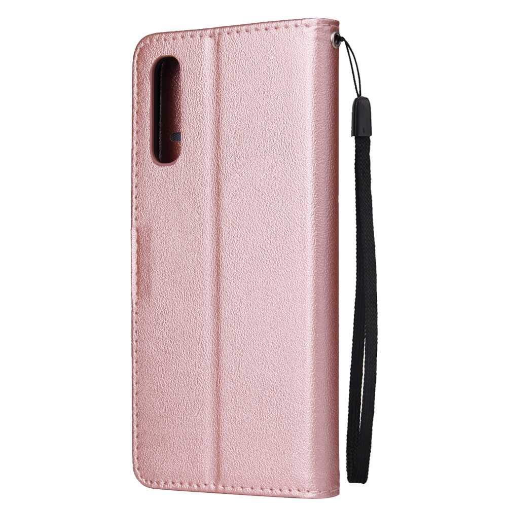 Brown #1 Samsung Galaxy A50 Case,THRION Premium Leather Flip Wallet Cover with Card Slot Holder and Magnetic Closure for Samsung Galaxy A50