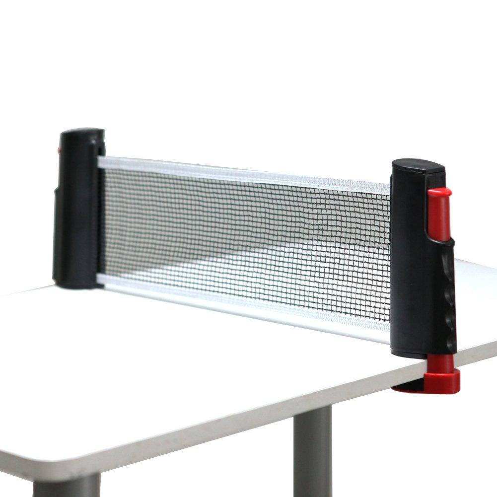 Tera Tischtennis einziehbar Ersatz tragbar red Ping Pong red Set