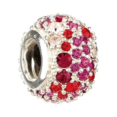 30b0d212b Image Unavailable. Image not available for. Color: Authentic Chamilia  Silver Red ...