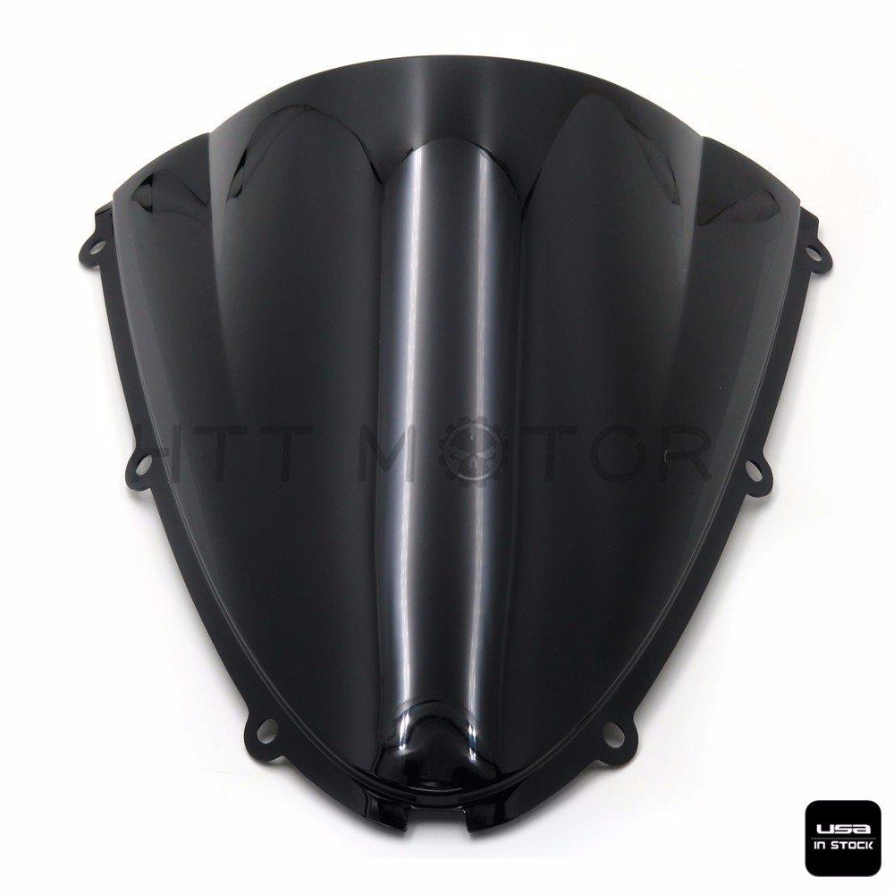 BLACK PASSENGER BACK REAR SEAT PILLION Compatible with 2007-2008 KAWASAKI NINJA ZX6R HTTMT PK0607