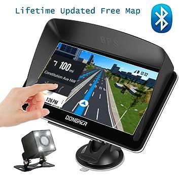 Navegación GPS para coche, pantalla táctil de 7 pulgadas + cámara de visión trasera,