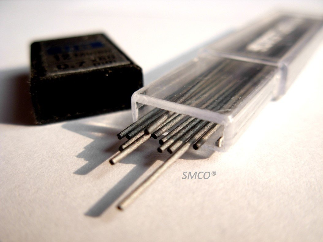 Propelling//Automatic 10 IKON K87 Mechanical Pencils /& 10 Tubes 0.7mm HB Leads