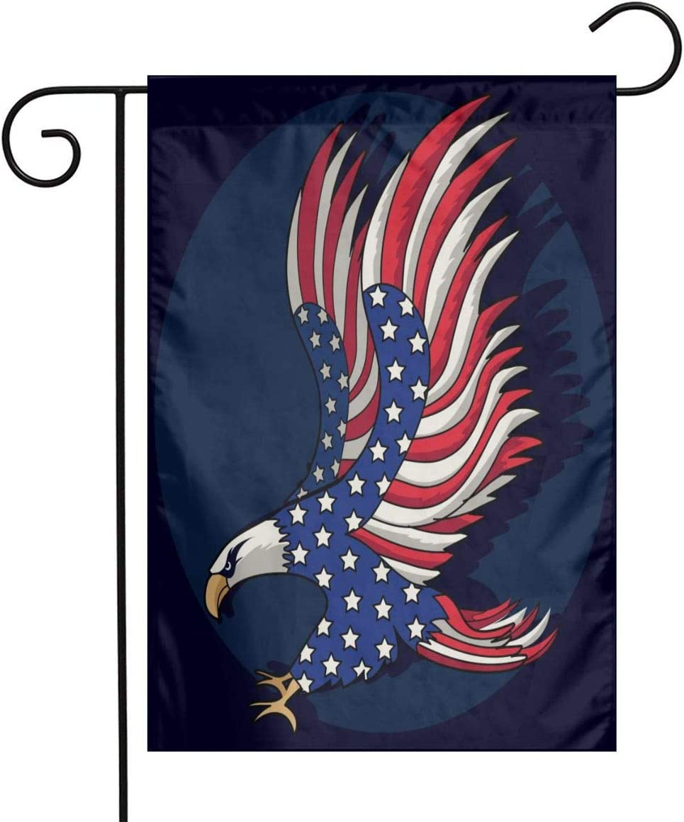Patriotic American eagle Garden Flags for Outside 12 x 18 Prime