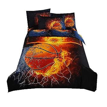Stillshine Bettwasche Bettbezug 3d Basketball Fussball Jungen Bett Bezug Bezuge Garnitur Set Bettdecke Kissenbezug Single Double King Size Basketball