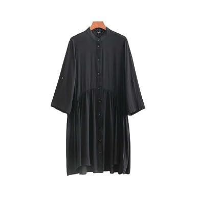 Ygosoon Straight Ladies Office wear Knee Length Dresses Vestidos QA125 Black S