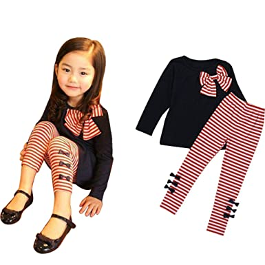 a30595876 Amazon.com  💗 Orcbee 💗 Toddler Kids Baby Girls Clothing Long ...