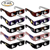 RUNFOR Solar Eclipse Glasses - 25pack CE Certified Safe Shades for Direct safe Sun Viewing - Eye Protection