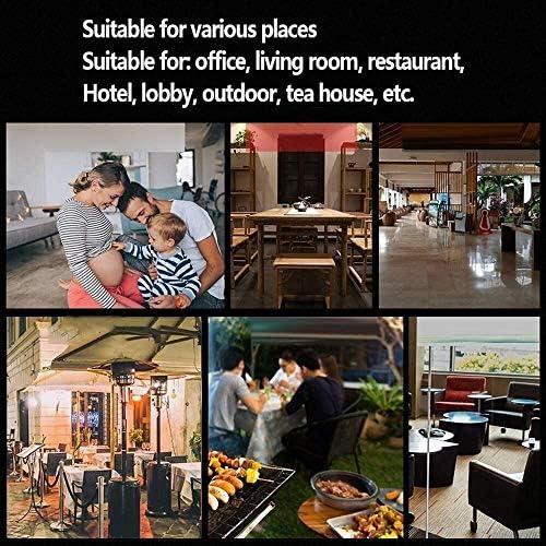 sknonr Chauffage Au Gaz, Puissance Réglable 13Kw, Chauffage De Cour, Cour Commerciale, Bureau, Salon, Restaurant, Hôtel
