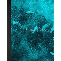Bullet Journal: 8.5 x 11 - 160 pages - Gren Blue Watercolor Dark Clouds - Notebook Dotted Grid - soft cover glossy finish - journal, planner, organizer, dot point, sketch, calligraphy