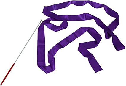 10x Rhythmic Art Gymnastic Ribbon Streamer Twirling Rod Stick For Gym Training #