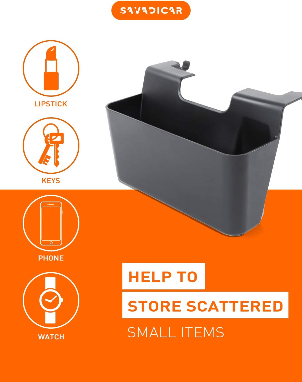 Black Interior Accessories Savadicar JK Center Console Hanging Storage Box Organizer for 2011-2018 Jeep Wrangler JK JKU