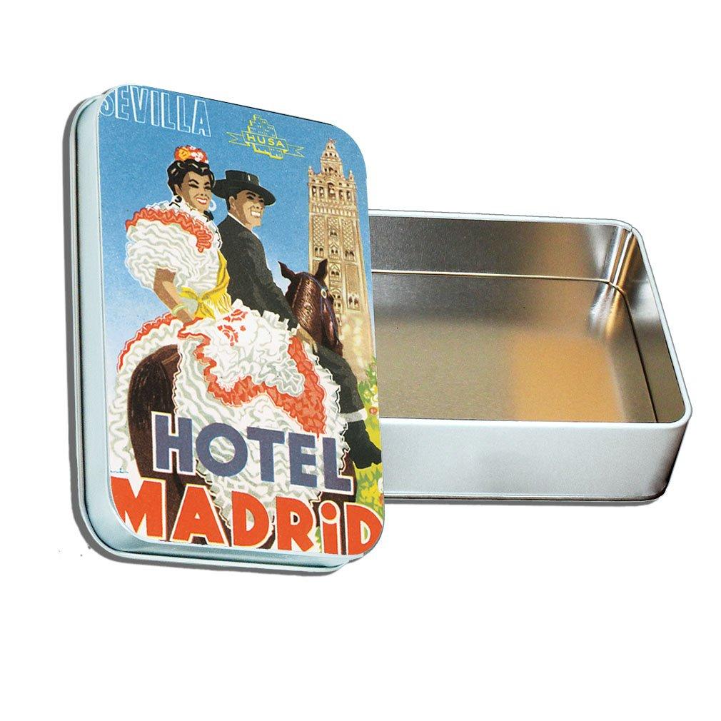 Sevilla Hotel Madrid antiguo viaje Póster de Metal caja de lata, & Puzzle Set: Amazon.es: Hogar