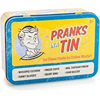 Westminster Pranks in a Tin, 6 Classic Pranks for Endless Mischief Practical Joke Set, Blue/Yellow/Multicolor
