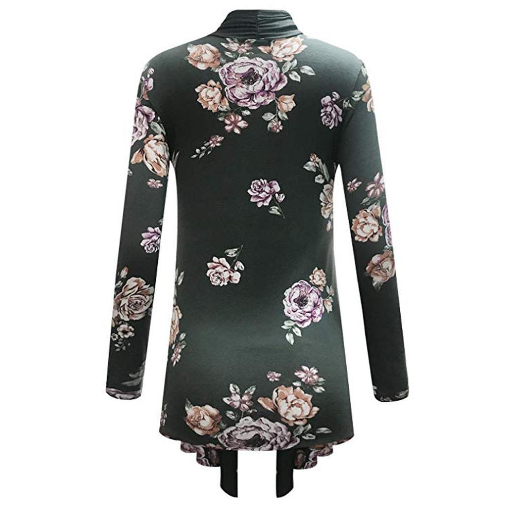 Amazon.com: Teresamoon Womens Kimono Cardigans Floral Chiffon Blouse Boho Irregular Wrap Kimono Cardigans Casual Coverup Tops: Clothing