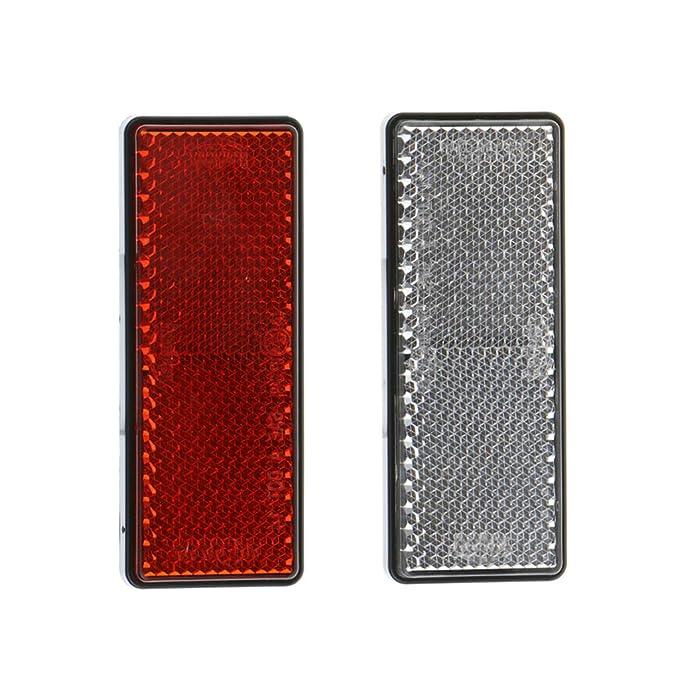 KESOTO Reflectores Rectangulares Rojos para Motos Piezas Reflectantes de Seguridad de Coches