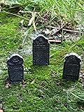 Fiddlehead Fairy Garden Miniature Halloween Tombstone Accessory Set (Set of 3) #17003