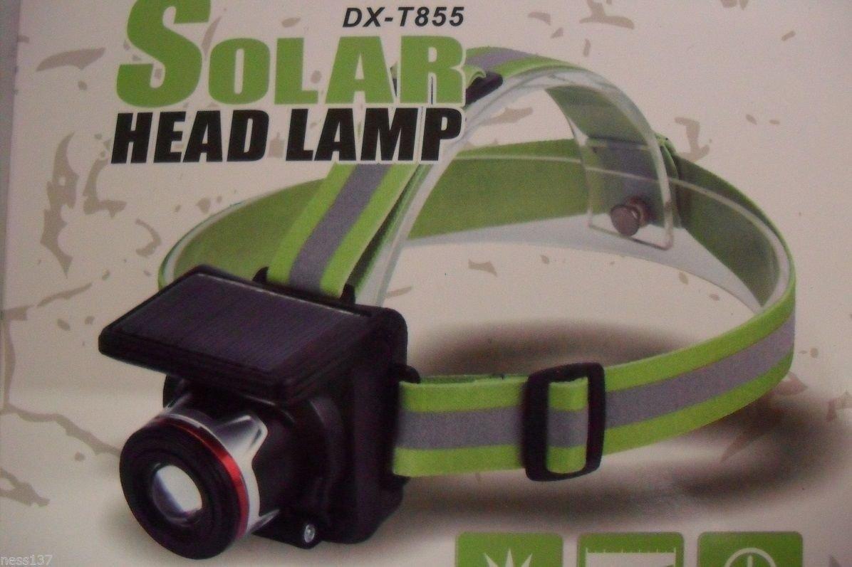 La Petite Caverne- Lampe Frontale Rechargeable SOLAIRE & Secteur 230V CREE 10W 160 Lumens Zoom