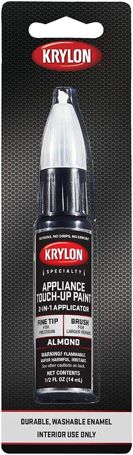 Krylon K07702A00 Appliance Touch Up Paint Tubes, Almond, 1/2 Ounce