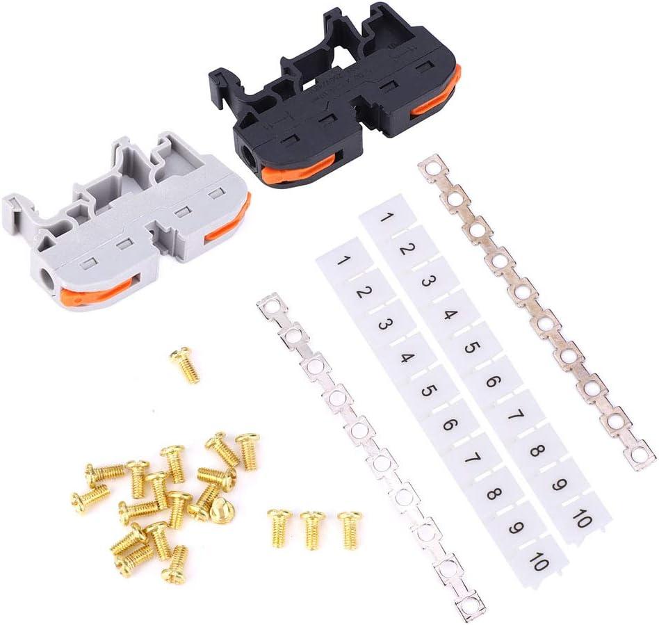 Conducteur de fil 20 pi/èces Compact connecteur de c/âblage bornier 11~28AWG PCT-211 Rail DIN conducteur de c/âblage universel