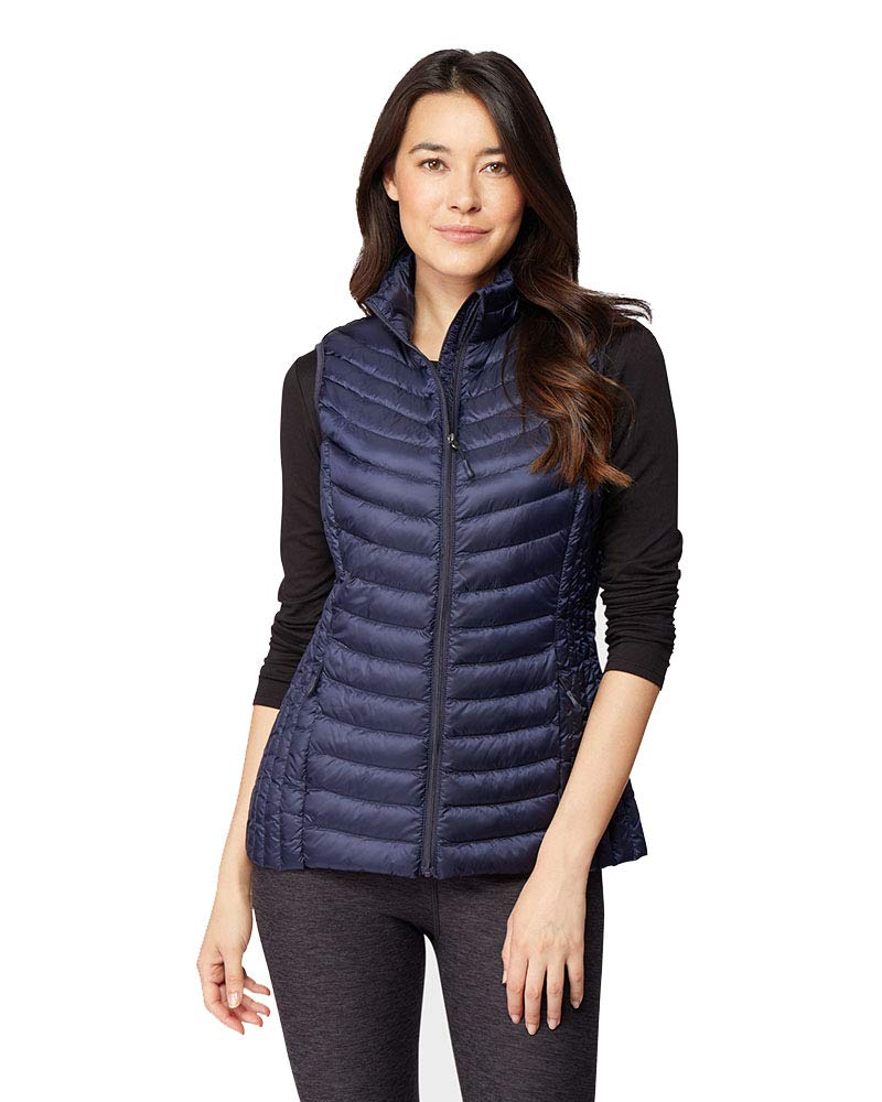 32 DEGREES Womens Ultra-Light Down Packable Vest, Stormy Night, Size XXLarge by 32 DEGREES