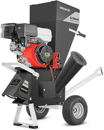GREENCUT GE180XE - Biotrituradora de gasolina 420cc y 18cv Trituradora de ramas, hojas y restos de poda para jardinero: Amazon.es: Hogar