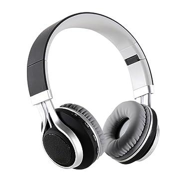 MTTLS Auriculares Sobre La Oreja Auriculares Bluetooth Hi-Fi Estéreo Inalámbrico Bajo con Micrófono Incorporado