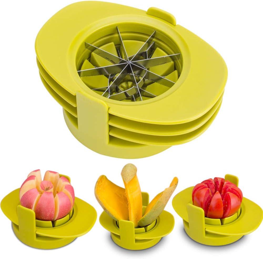 SameTech Easy Kitchen Tool 4-in-1 Fruit Mango Peeler Splitter Pitter Remover Apple Pear Corer Cutter Tomato slicer