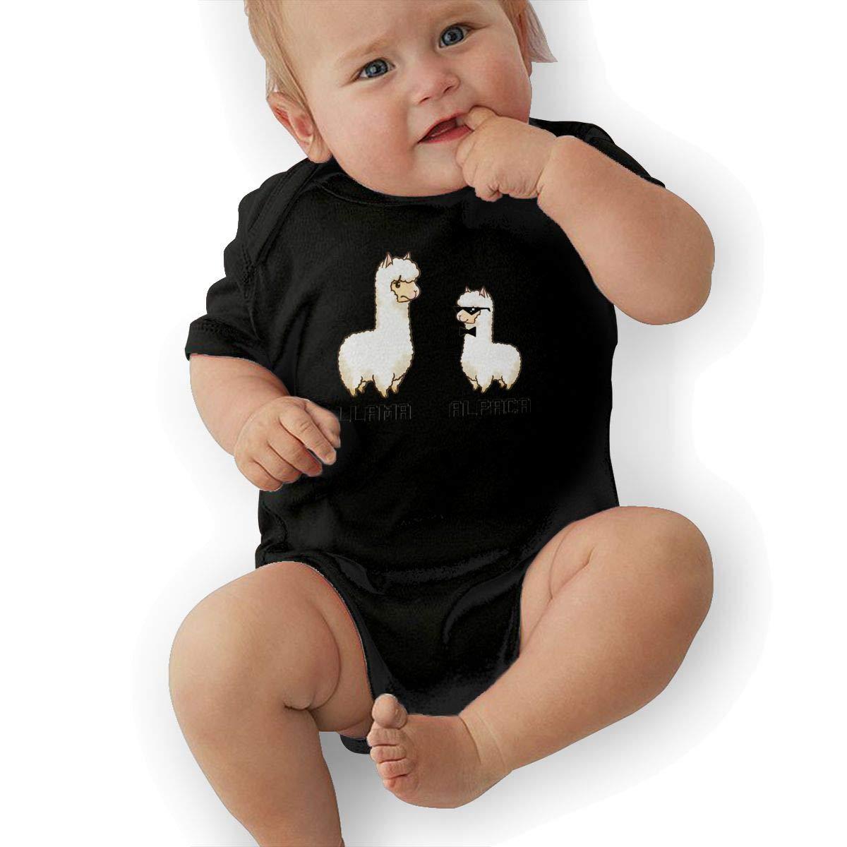 HappyLifea Llama Vs Alpaca Newborn Baby Short Sleeve Romper Infant Summer Clothing