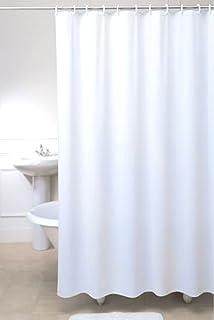 Fabric Bathroom Shower Curtain Plain White 250 x 200 cm Extra Long Wide  Hallways  Carly Stripes Navy Blue Beige White Shower Curtain Fabric  . Navy Blue And White Shower Curtain. Home Design Ideas